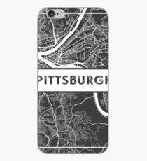 Straßenkarte von Pittsburgh, Pennsylvania iPhone-Hülle & Cover