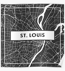 St. Louis, Missouri-Straßenkarte Poster