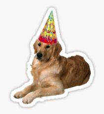 Golden Retriever Birthday Sticker