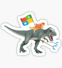 Ninjacat T-Rex Sticker