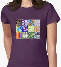 Kitties and Dots and Stripes Oh My ! Womens Fitted T-Shirt