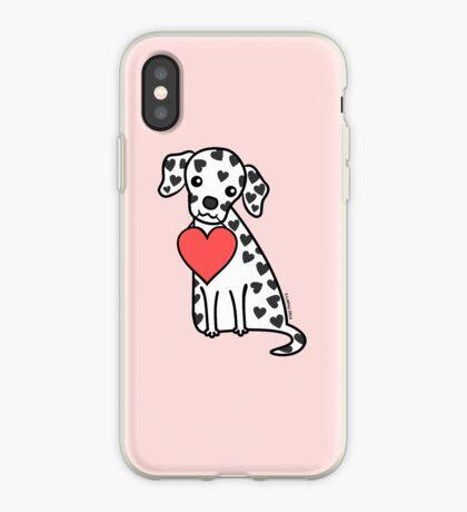 Dalmation Puppy Valentine iPhone Case