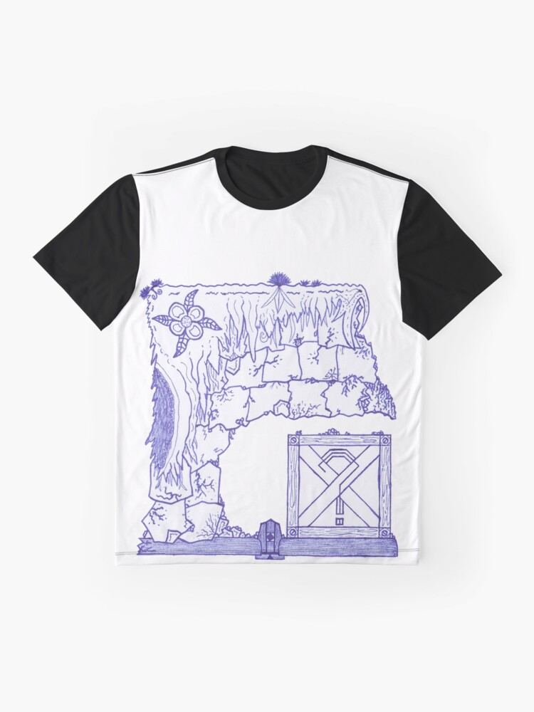 Alternate view of Merch #29 -- Crate Beneath The Crumbling Cliff Graphic T-Shirt
