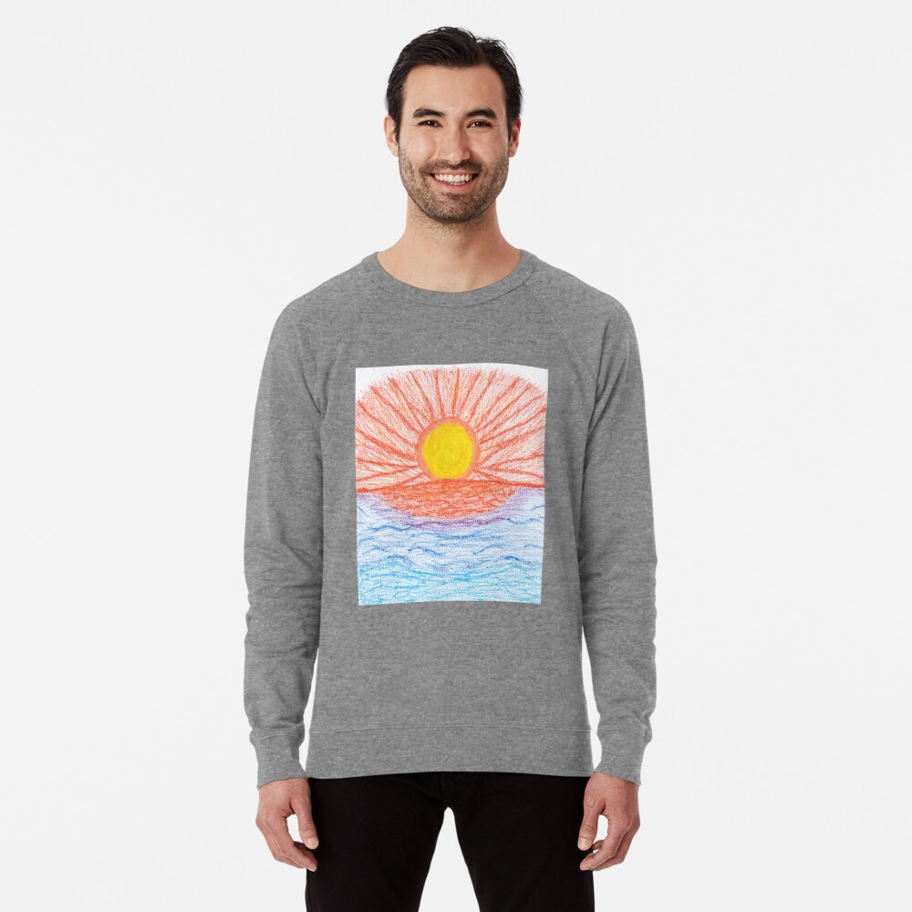 Merch #28 -- Sea Sunset Lightweight Sweatshirt