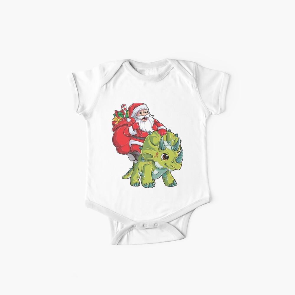 Weihnachtshemden für Jungen Santa Dinosaur Triceratops Gifts Baby Body