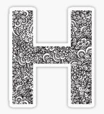H Sticker