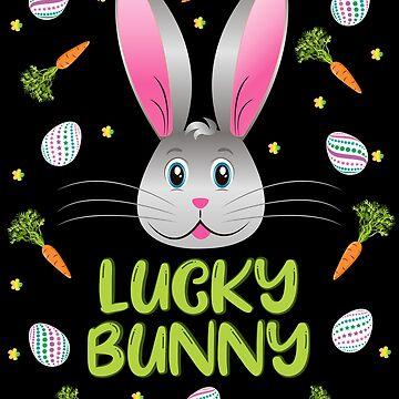 Easter Rabbit Lucky Bunny Egg Hunt Funny Bunny Face by ZNOVANNA
