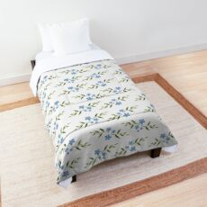 Watercolor flower pattern 4/4. Blue version Comforter