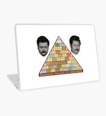 Swanson Pyramid of Greatness Laptop Skin