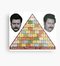 Swanson Pyramide der Größe Metallbild