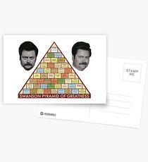 Swanson Pyramide der Größe Postkarten