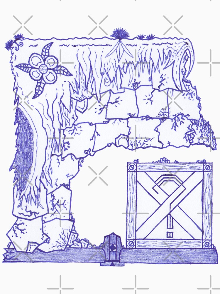 Merch #29 -- Crate Beneath The Crumbling Cliff by Naean