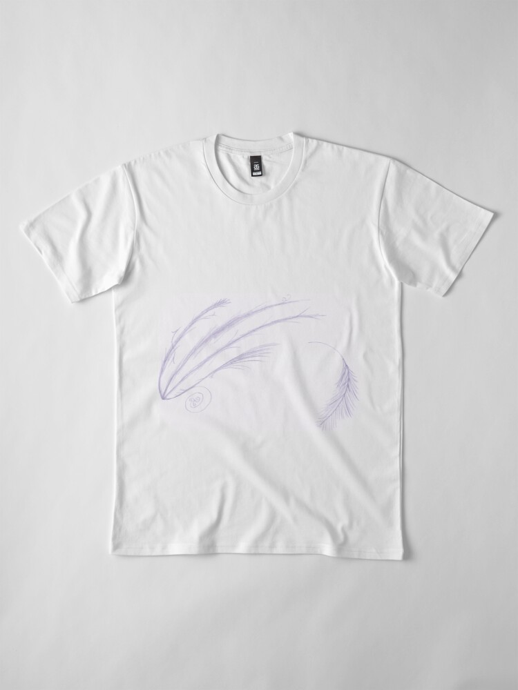 Alternate view of Merch #27 -- Feathery Purple Streaks Premium T-Shirt