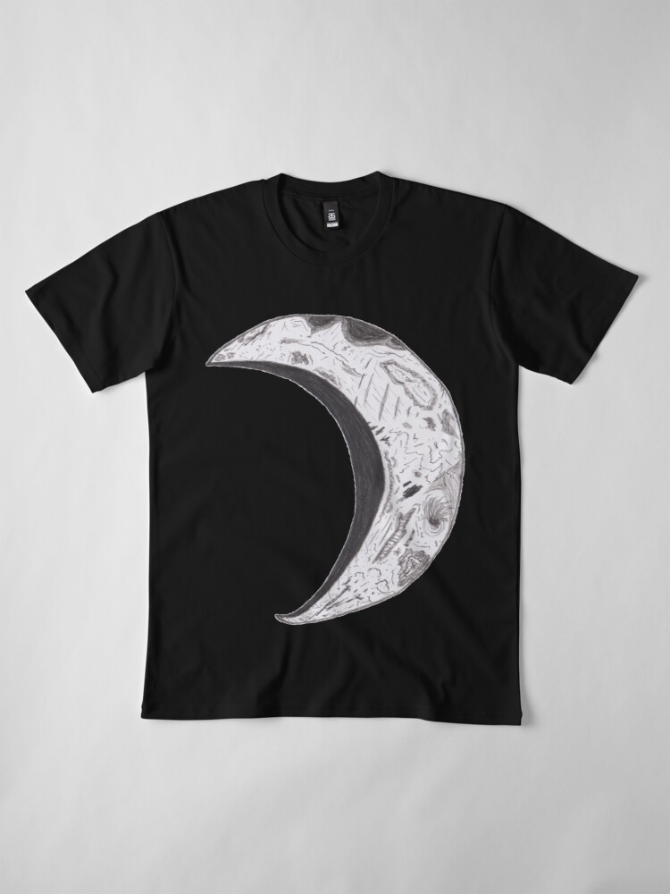 Alternate view of Merch #25 -- Weathered Crescent Premium T-Shirt