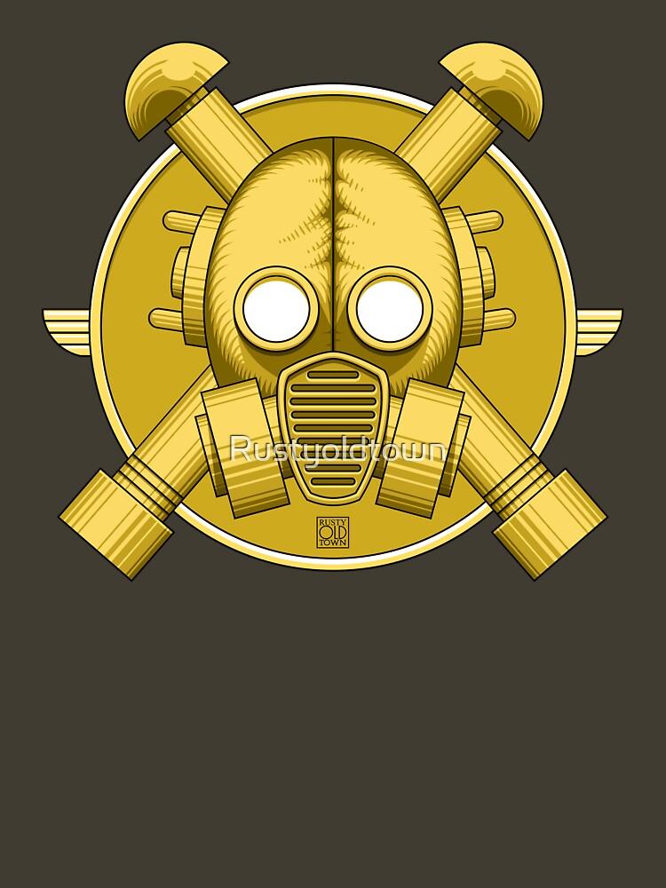 Art Deco Gold Gasmask de Rustyoldtown