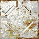 Shabby Rusty Tin White Vintage Tile by mindydidit