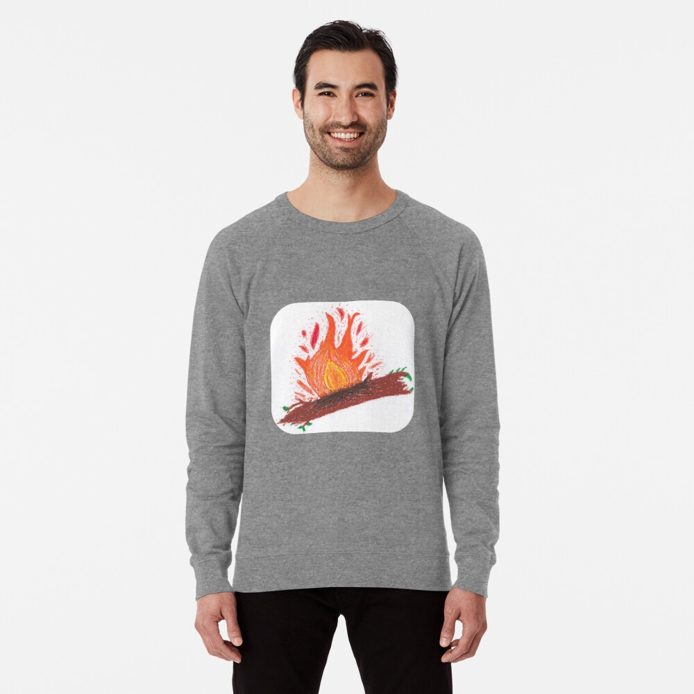 Merch #23 -- Log On Fire Lightweight Sweatshirt