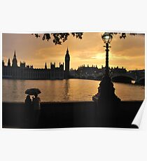 Romantic Sunset in London Poster