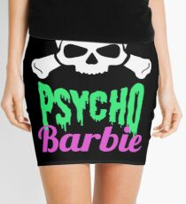 Psycho Barbie Skull Mini Skirt