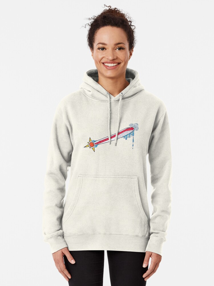Alternate view of Merch #21 -- Thermometer Exclamation Pullover Hoodie