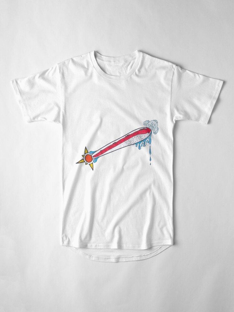 Alternate view of Merch #21 -- Thermometer Exclamation Long T-Shirt