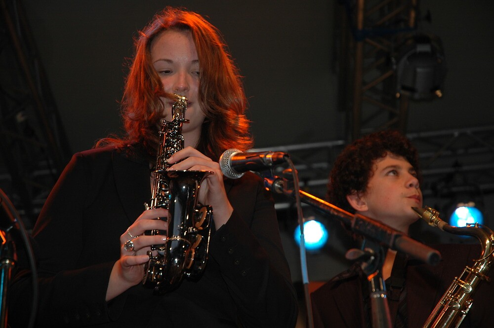 Two Saxes, John Morrison's Jam Session, Darling Harbour 2008 by muz2142