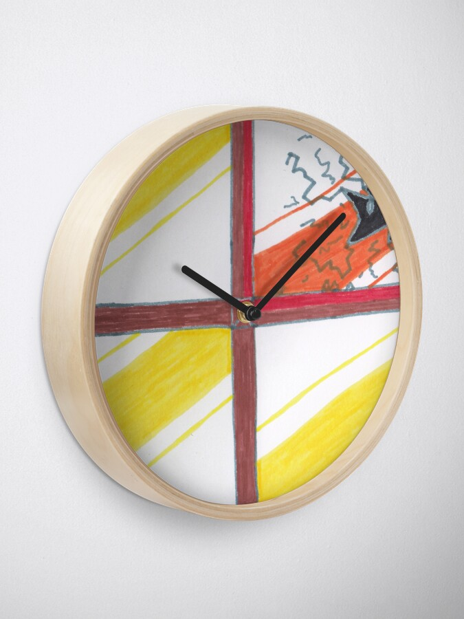 Alternate view of Merch #20 -- Wrecked Window - Pane Pain Clock