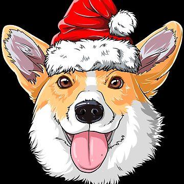 Corgi-Sankt-T-Shirt Weihnachten scherzt Jungen-Mädchen-Weihnachtsgeschenk-Hut von LiqueGifts