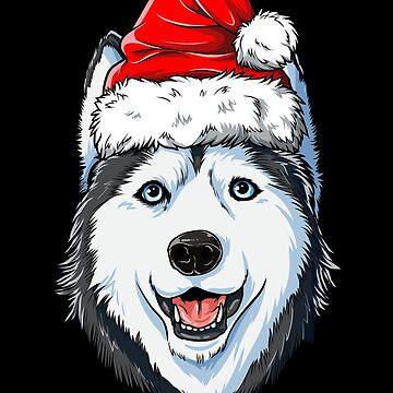 Siberian Husky Santa T-Shirt Weihnachten scherzt Jungen-Mädchen-Geschenke von LiqueGifts