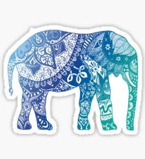 Blauer Elefant Sticker