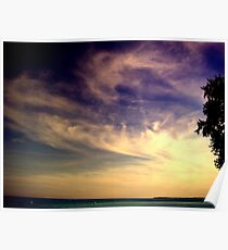 Sunset Over the Waters Poster