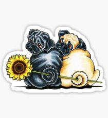 Sunny Pugs Sticker
