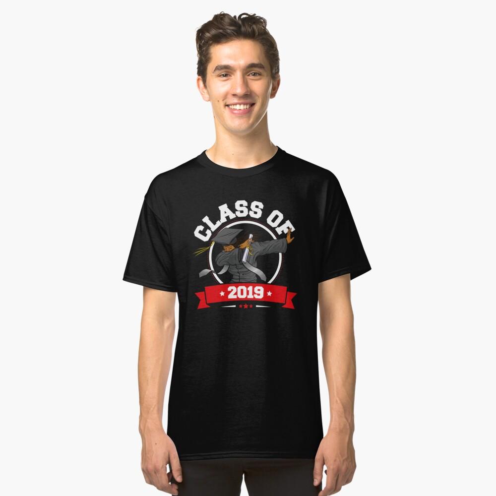 Dabbing Graduation Class Of 2019 Funny Gifts Women Black Classic T-Shirt