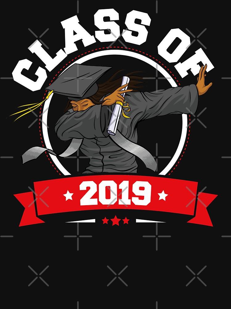 Dabbing Graduation Class Of 2019 Funny Gifts Women Black by trendingorigins