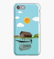 House above the water iPhone Case/Skin