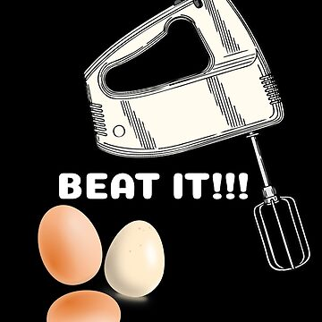 Beat It Funny Egg Pun by DogBoo