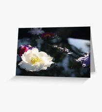 White Rose - Dark Water Greeting Card