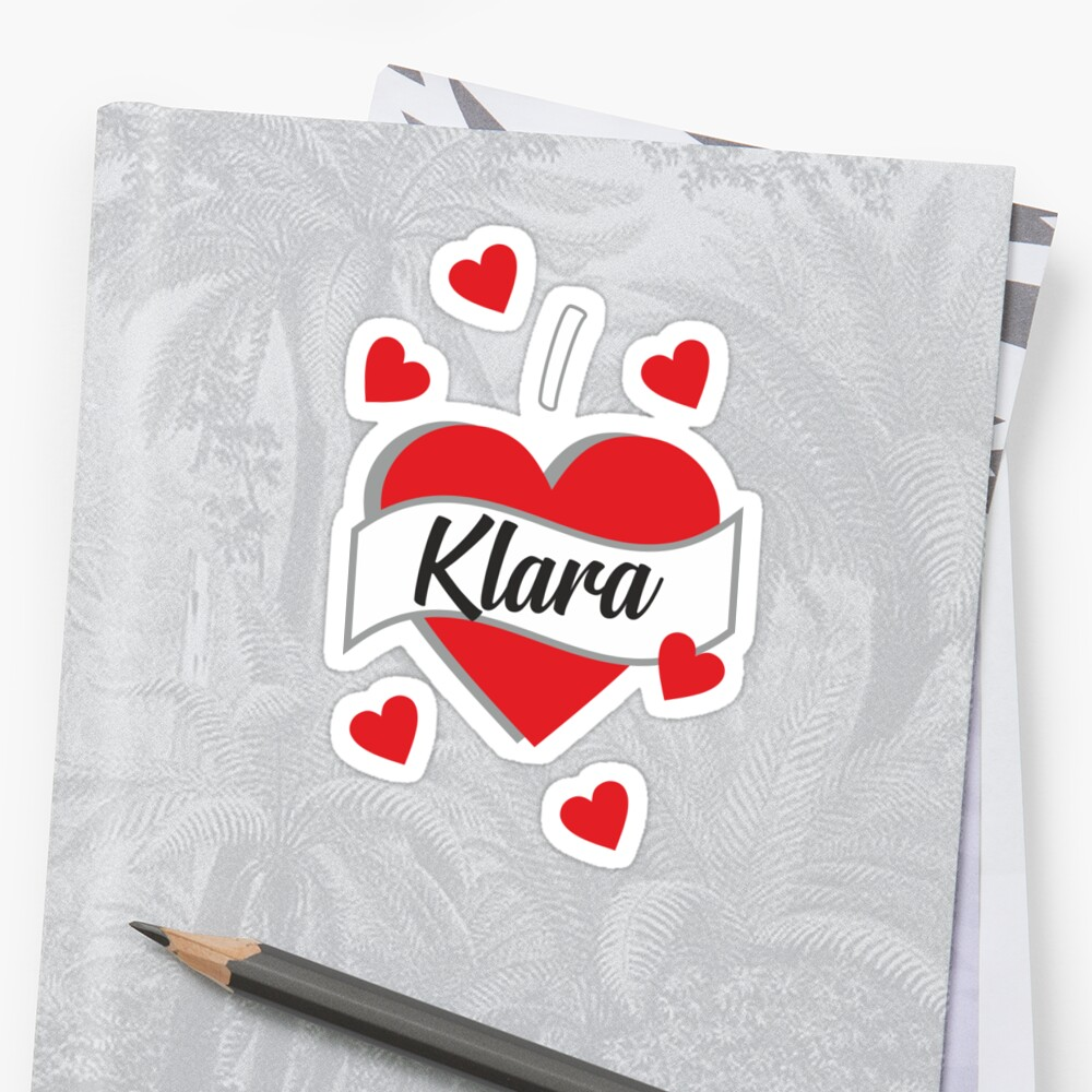 I Love Klara Sticker
