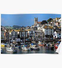 Brixham Inner-harbour, Devon Poster