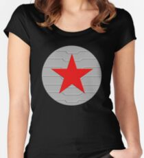Winter Soldier - Shield Women's Fitted Scoop T-Shirt
