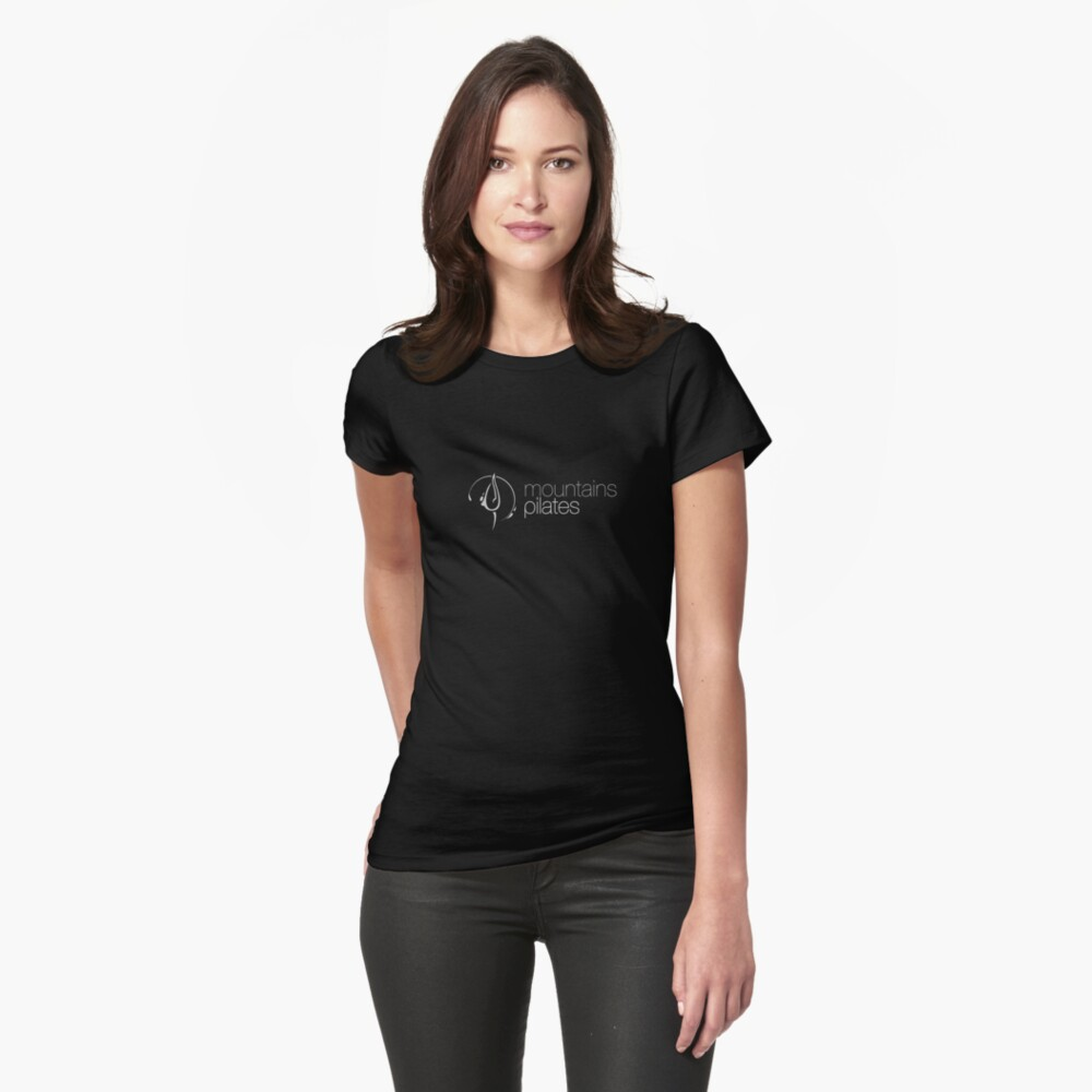 Mountains Pilates Fitted T-Shirt