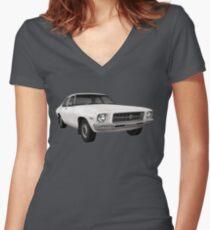 Holden HQ Kingswood Car T-Shirt Women's Fitted V-Neck T-Shirt
