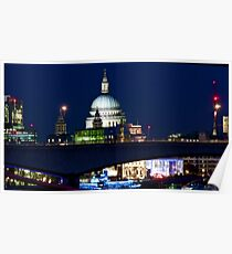 St Paul's at night Poster