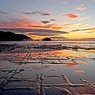 Sunrise Over Tessellated Pavement. by Alex Preiss