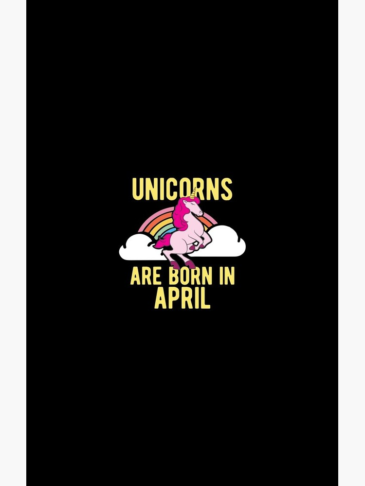 Unicorns Are Born In April Shirt Birthday Month Gift Tee von haselshirt