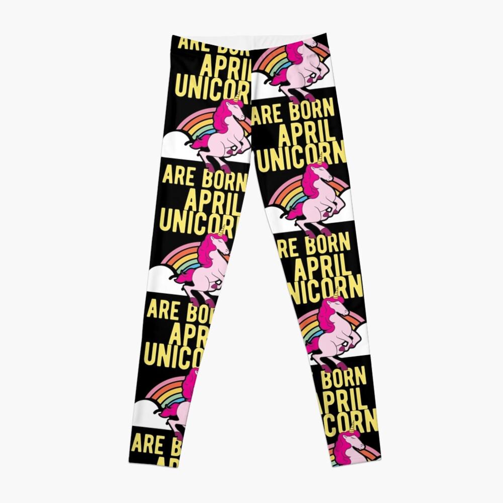 Unicorns Are Born In April Shirt Birthday Month Gift Tee Leggings