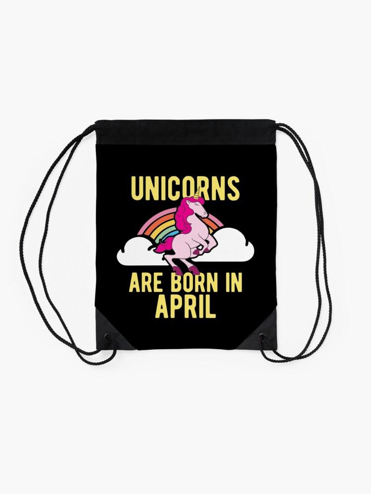 Alternative Ansicht von Unicorns Are Born In April Shirt Birthday Month Gift Tee Turnbeutel