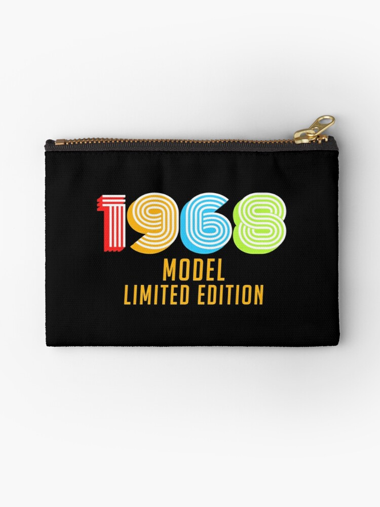 1968 Model Limited Edition Funny Retro Vintage 50th Birthday Gifts Zipper Pouch By Jessabernathy