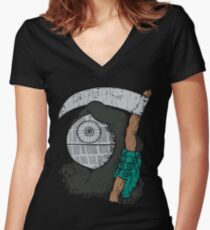 DeathStar Women's Fitted V-Neck T-Shirt