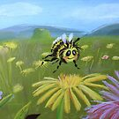 Bumblebee in field by Stayf